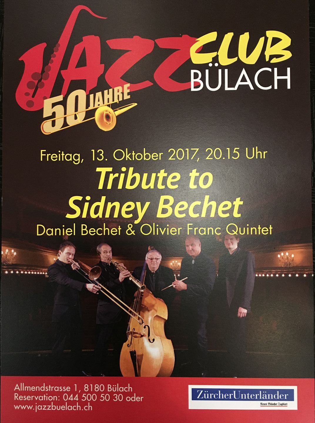 Affiche Tribute to Sidnet Bechet
